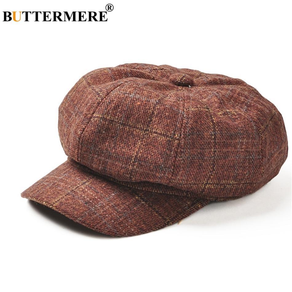0480be3e525 BUTTERMERE WOMEN Camel Wool Beret Hats Female Casual British ...