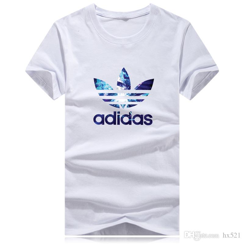 86172f2b6 Hot Sell Summer High Quality LOGO Men T Shirt Casual Short Sleeve O Neck  Cotton T Shirt Men Women Sports Brand White Black Tee Shirt A**das Online T  Shirts ...