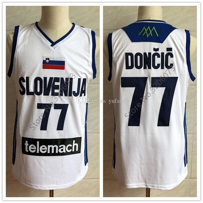 4bcf21fe2 2019  77 Luka Doncic Team Slovenija Real Madrid Basketball Jersey Mens  Embroidery Stitched Custom Any Number And Name Jerseys From Yufan10