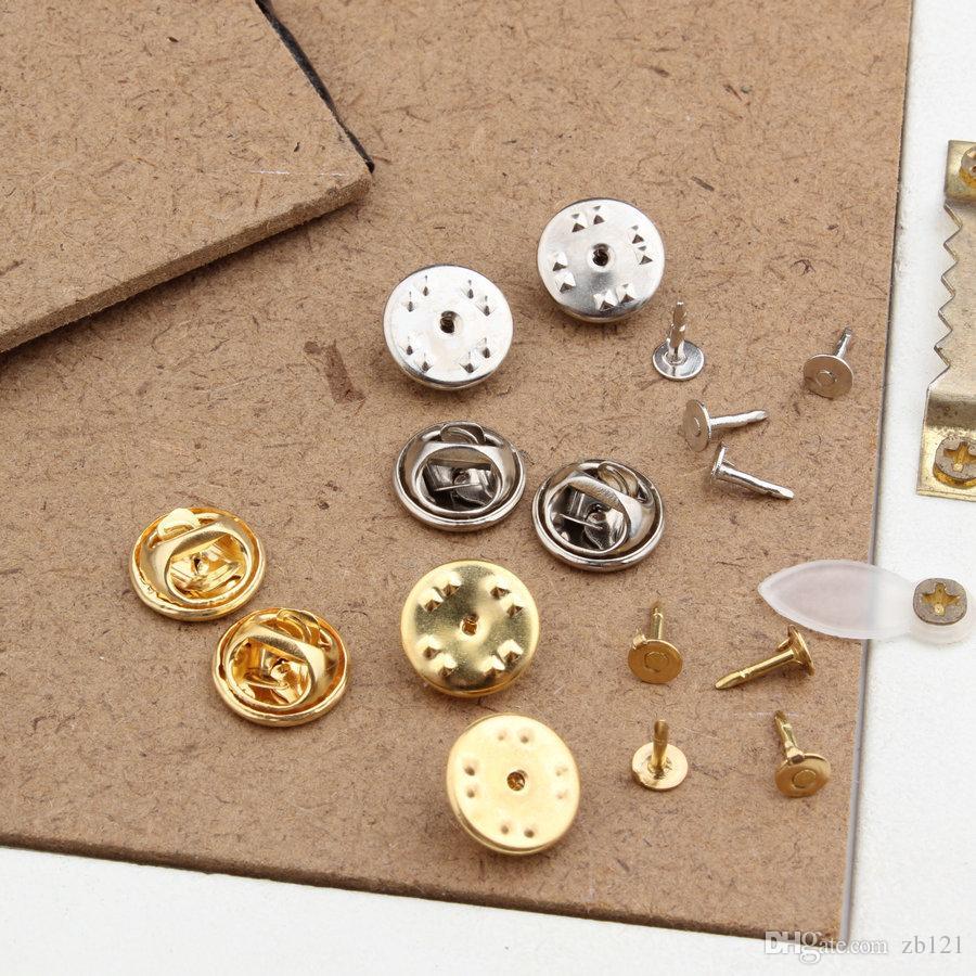 .Wholesale-1.1cm Clip et pince papillon en métal doré doré, convient pour brochesbadge sans plomb, sans nickel, Bonne affaire pour