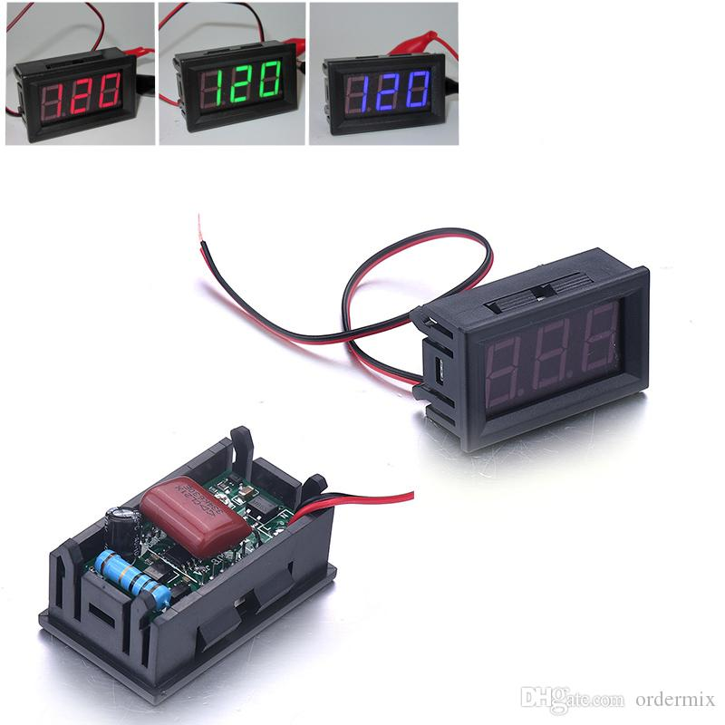 Mini Car Auto Motor LED Digital Voltmeter Ammeter AC 70-500V 0.56 Inch Panel Amp Volt Current Meter Tester