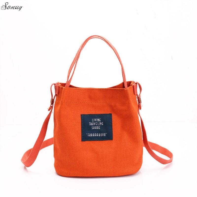 f1021b7ba75a Fashion Lady Canvas Mini Single Shoulder Bag Crossbody Messenger Bag Women  Leisure Female Shopping Bags Bucket Handbag Crossbody Name Brand Purses  From ...
