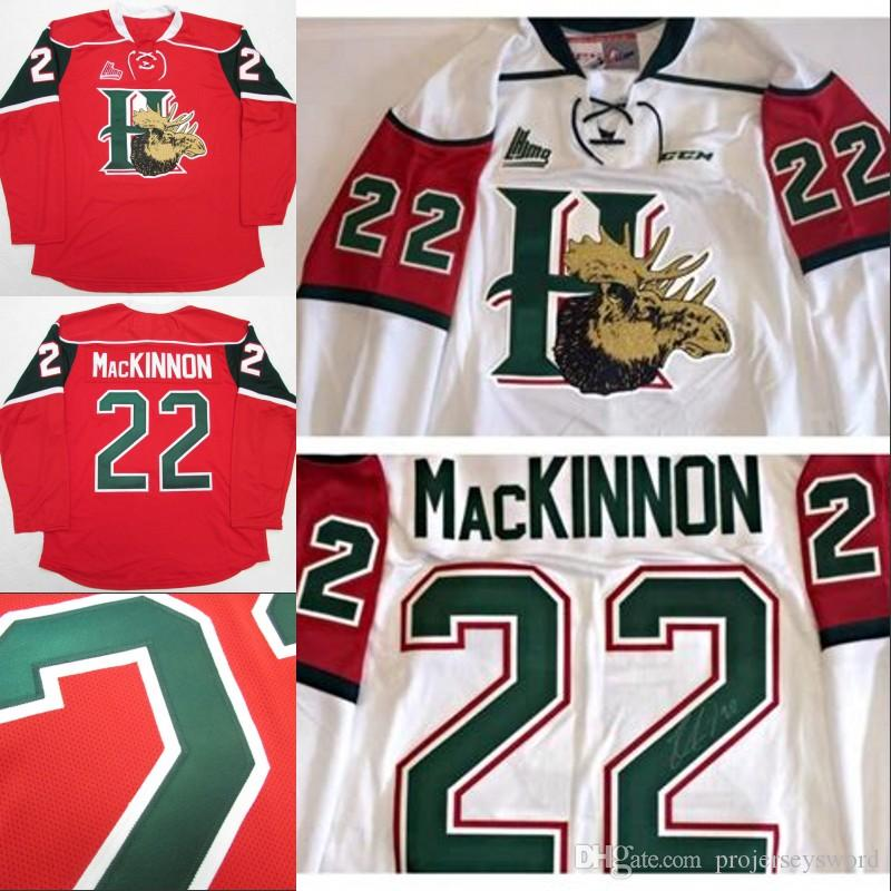 caee79333 2019 Halifax Mooseheads  22 NATHAN MacKINNON Hockey Jersey 100% Stitched  Embroidery Logos Hockey Jerseys From Projerseysword