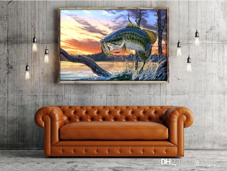 2018 Bass Fishing Wallpaper Art Print Poster Posters Photopaper 16 24 36 47 Inches From Kapalian 964