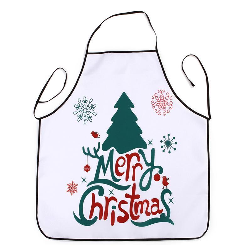 Christmas Apron Printed Waterproof Kitchen Restaurant Dinner Apron ...