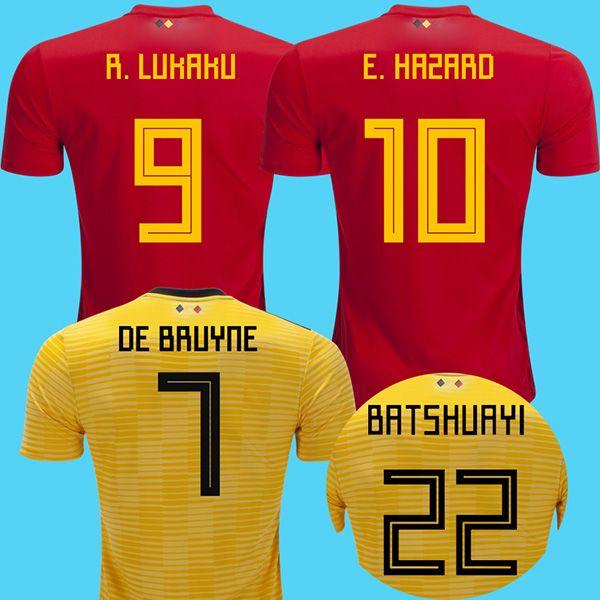 079bdd2183 Compre Belgium 2018 Camisas De Futebol Da Bélgica De Bruyne LUKAKU Copa Do  Mundo 2018 Camisa De Futebol Da Bélgica RISCO BATSHUAYI Camiseta Futbol  KOMPANY ...