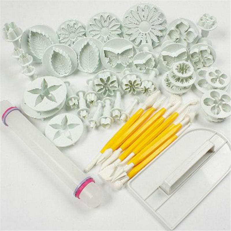 46 Pcs Cake Decorating Tools Sets Plunger Mold Cutter Fondant Cake Tool Cookie Cutter Confeitaria Sugar Craft Cutters