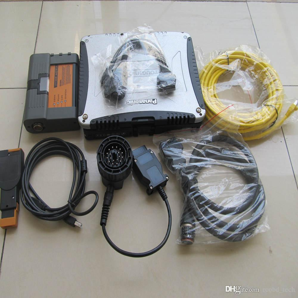 DHL gratuit pour BMW ICOM A2 bc avec disque dur Rheigold pour BMW ISTA ICOM A2 outil de diagnostic diagnostique + ordinateur portable cf-19