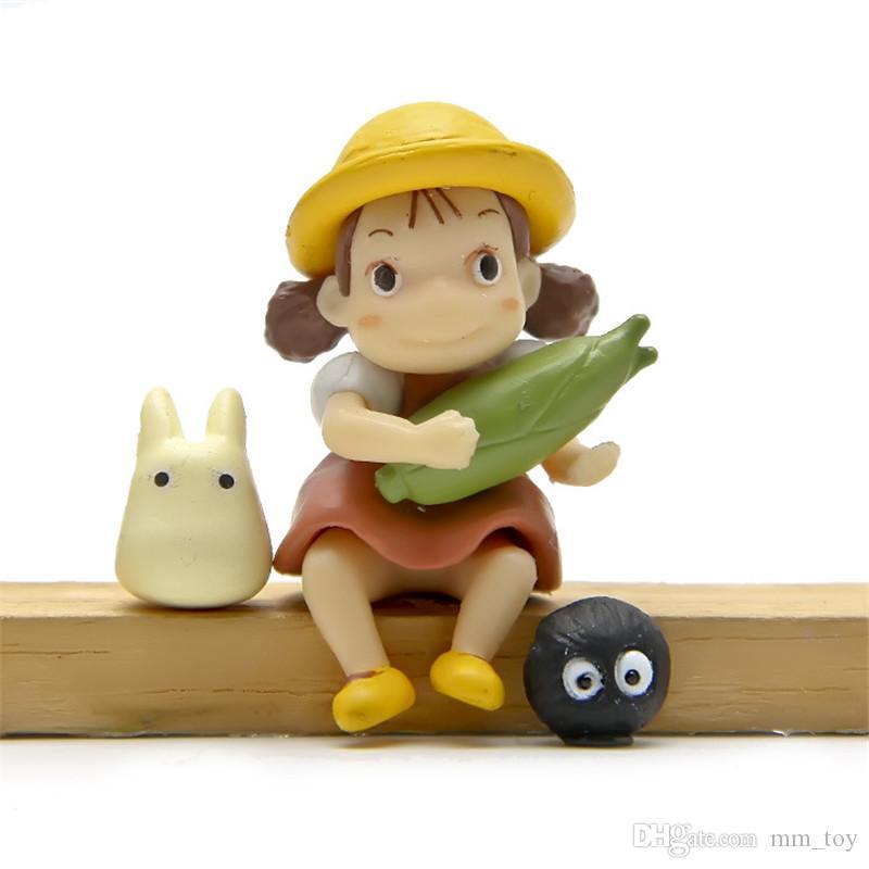 سوبر لطيف جارتي Totoro نموذج اللعب الشكل السلامة الراتنج TOTORO منتديات أرقام الاطفال استوديو غيبلي البسيطة نموذج دمية هدية عيد الميلاد