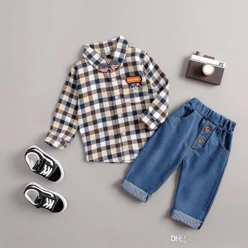 a46bfb014969 Kids Coat Pant  sets 1-4T Children Sets Baby Boys Girls 100% Cotton ...