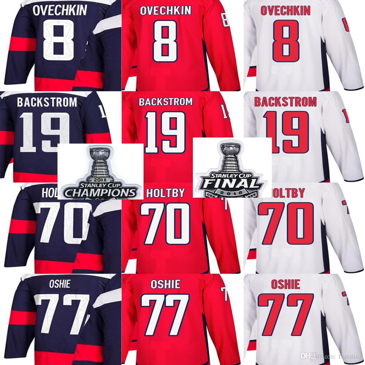 ... nhl jersey 429c2 400cd  australia 2018 stanley cup champions final men  washington capitals alex ovechkin t.j. oshie braden holtby nicklas d07dd8424