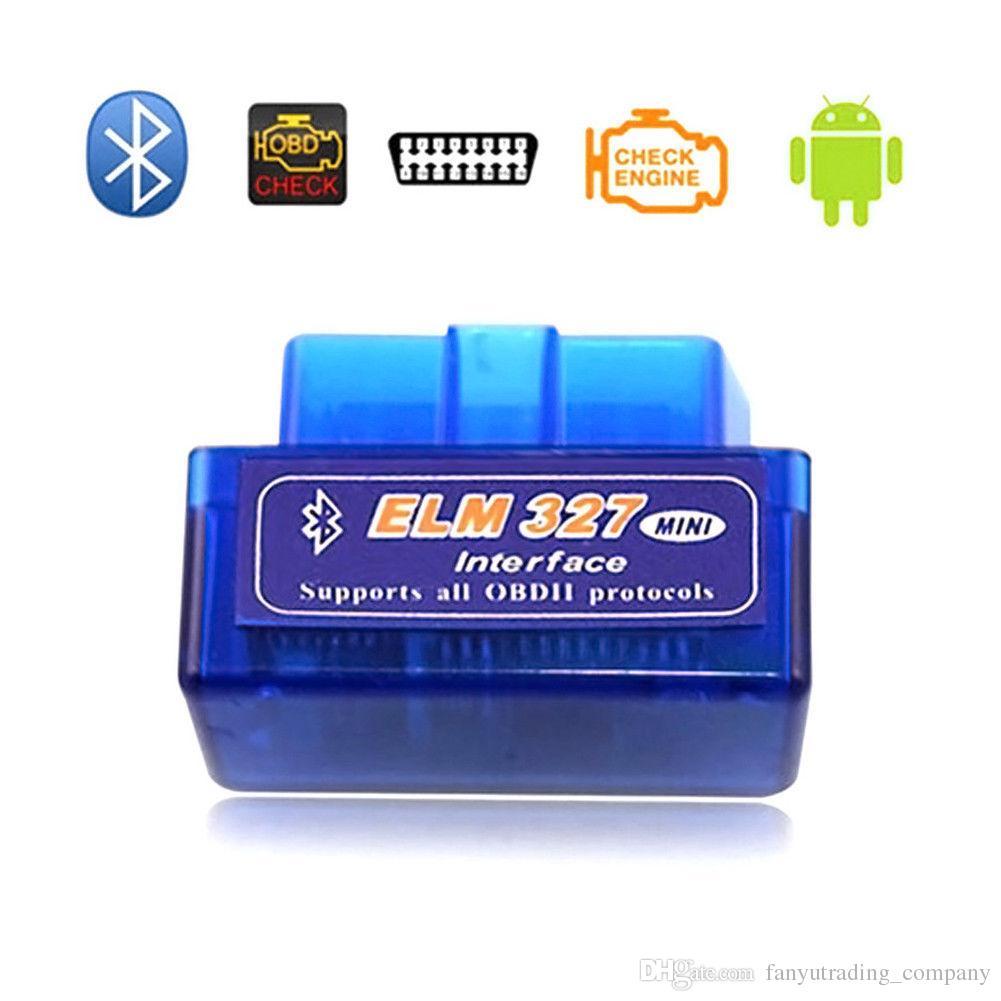 Diagnosescanner für Auto automotivo escaner automotriz Mini V2.1 ELM327 OBD2 Bluetooth Schnittstelle Auto Auto Scanner Dhl-freies Verschiffen