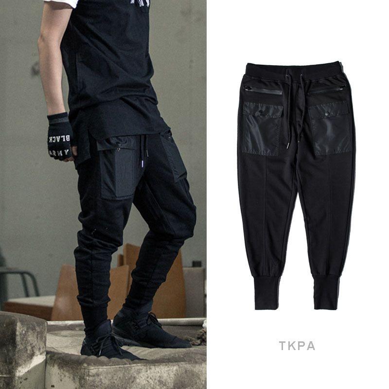 b14877e55a1ac Compre Hombres De Alta Calidad Joggers Pantalones De Chándal Para Hombre  Hip Hop Punk Moda Casual Flojo Harem Pant Pantalones De Cintura Elástica A   55.56 ...