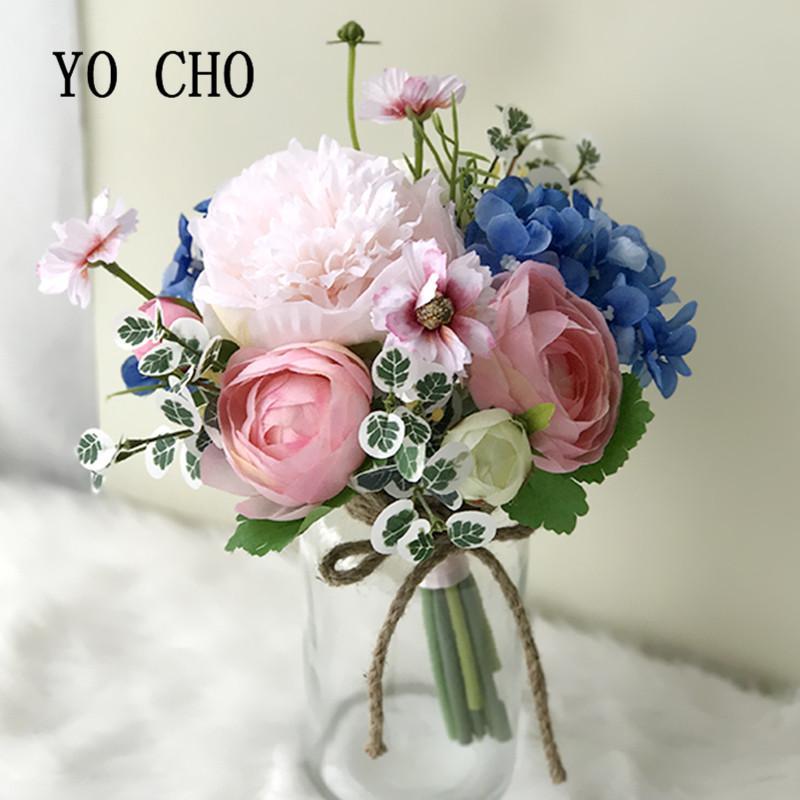 Best YO CHO Party Bridesmaid Bouquet Rose Greenery DIY Peony Wedding ...