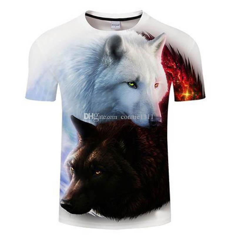 466cb8809 Summer T Shirt Wolf Couples Tshirt 3D T Shirts Hot Sale Tee Men ...