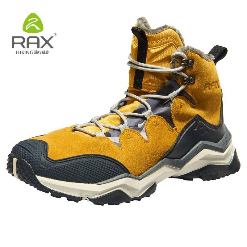 2019 Rax New Hiking Boots Men Waterproof Winter Snow Boots Fur