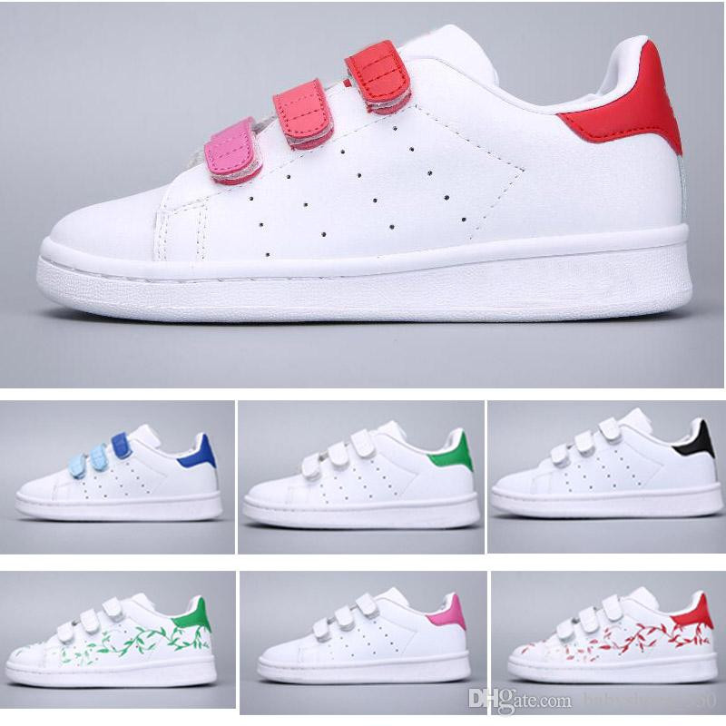 Großhandel Adidas Superstar Weihnachten SUPER STAR Kinder NEW STANSMITH Grils SNEAKERS CASUAL LEDER Kinderschuhe SPORT JOGGING SHOES Jungen CLASSIC