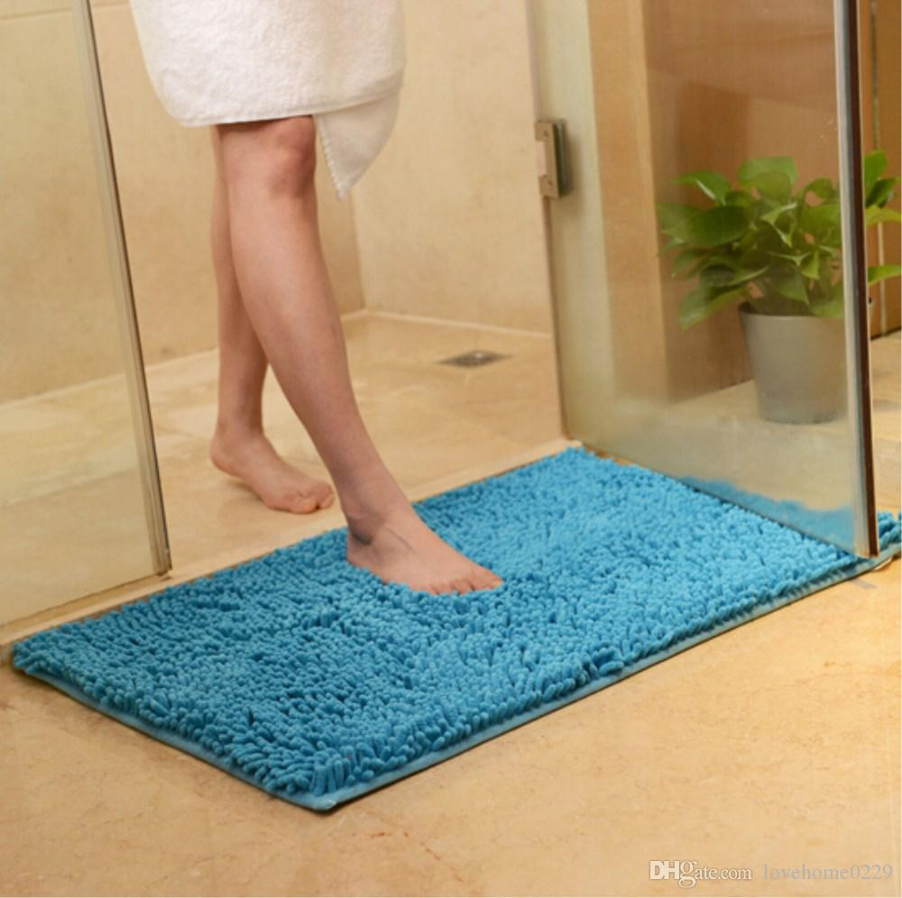 Household Doormat Chenille Bath Mat Soft Absorbent Rugs Non-slip Durable Foot Pads for Entryway,Bedroom, living room,Kitchen