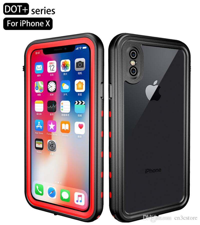 Redpepper 360 Full TPU PC Cover Shock/Dirt/Snow Proof Built-in Screen Phone Case for iPhone X 8 7 6S 5S 5C
