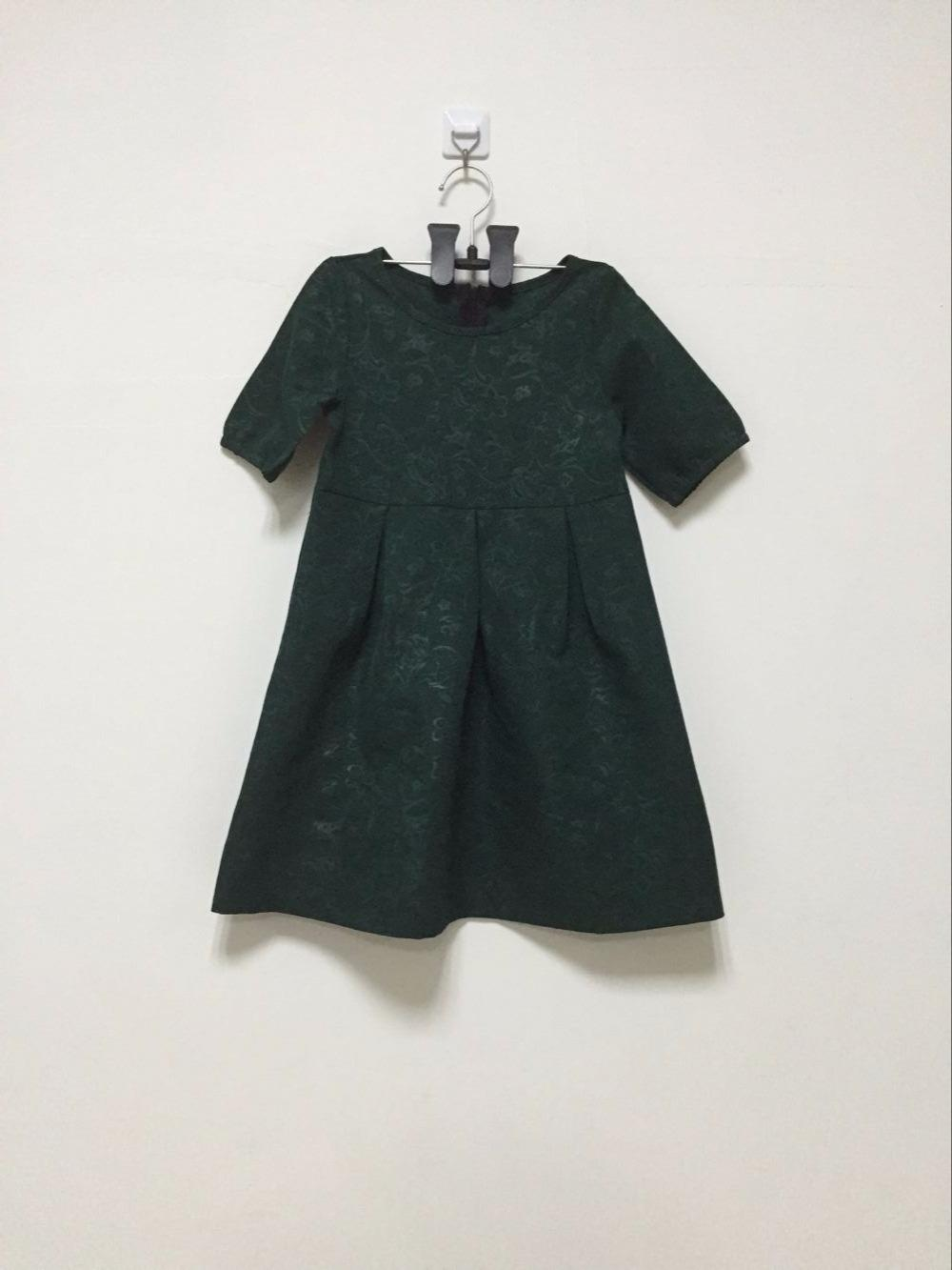 Family Matching Outfits Mommy and me dress Green Matching Mother Daughter Dresses for girl Vestidos Plus Size 3XL Large 2017 New