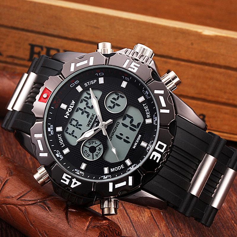 Impermeable Moda Hombre Relogio Y1892107 Relojes Hpolw Masculino Hombres Caucho Digital Marca Militar Chronos Led Deportivos Reloj gf7yb6