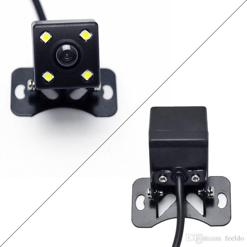FEELDO-Auto-4-Sensor-Einparkhilfe mit CCD-4-LED-Nachtsichtkamera Rückansicht Rückfahrsystem # 1687