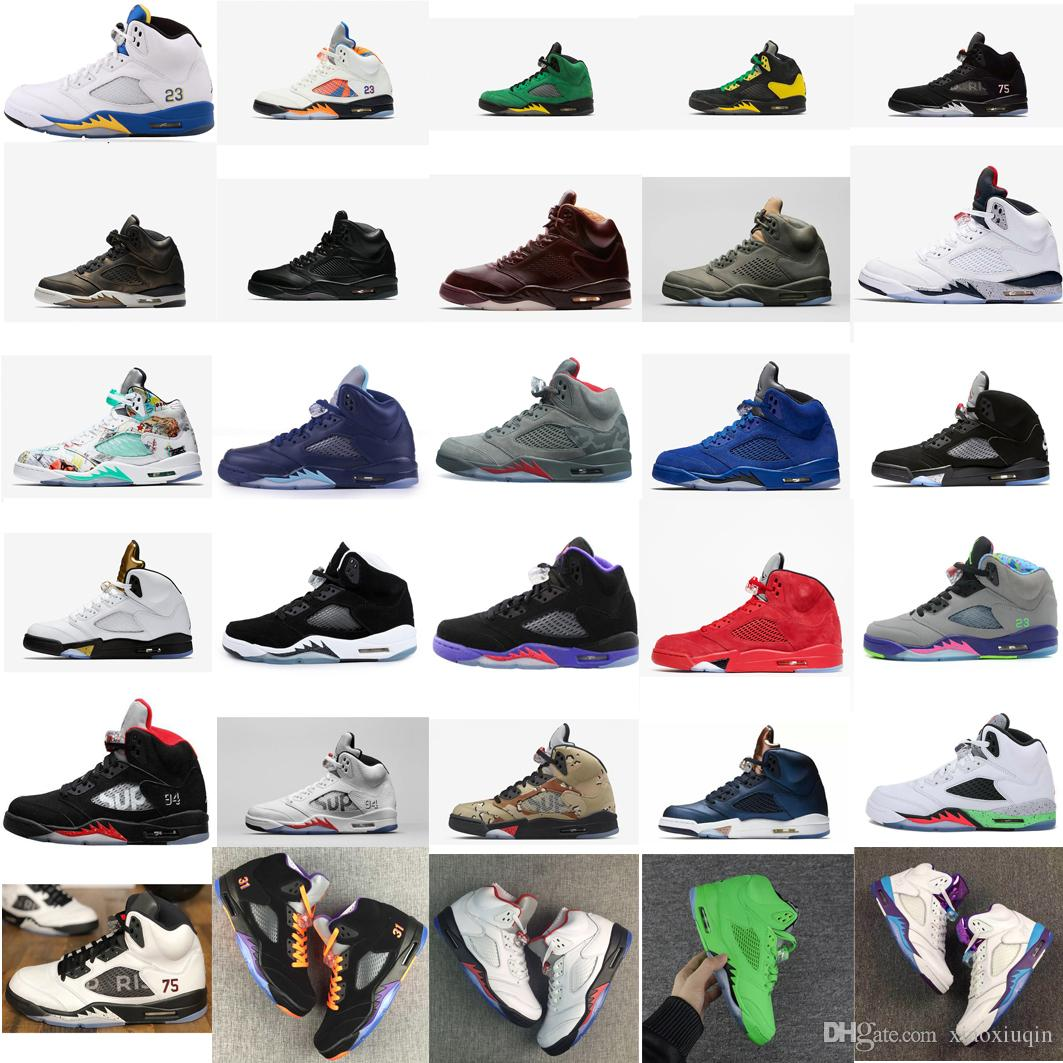 89101928336b 2019 Mens Retro 5s Basketball Shoes For Sale Paris Laney Blue White Black  Yellow Wings Oregon Ducks Aj5 Jumpman Sneakers Boots J5 With Box From  Xiaoxiuqin