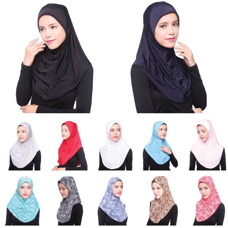 c2659b51ff79 Acheter 2018 Emirats Arabes Unis Abaya Dubai Islam Arabie Saoudite Hijab  Caps Femmes Musulman Turban Hijabs Châle Turbante Mujer Bonnet Foulard  Underscarf ...