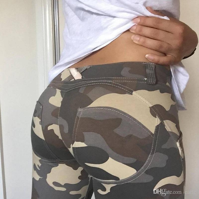 10 adet Seksi Moda kadın Kamuflaj Ordu Yeşil Streç Tayt Pantolon Pantolon Graffiti Kadınlar Hediyeler Için Toptan AP191e Ince