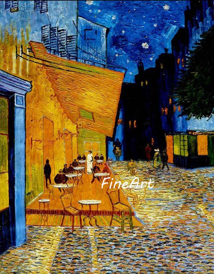 Grosshandel Handgemalte Olgemalde Vincent Van Gogh Malerei Cafe