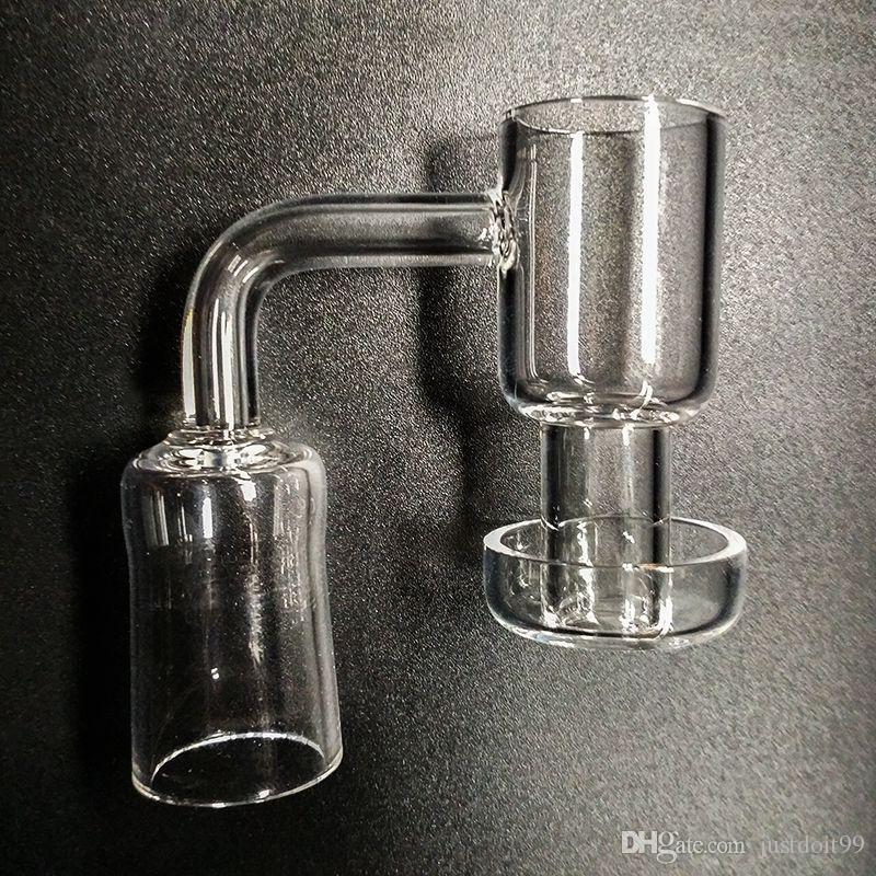 4mm Dikke Terp Vacuum Quartz Banger Nails Domeloze 14mm 18mm Terp Slurper Up Olie Banger Nail met Emmer 30mm Bodem OD 90 graden