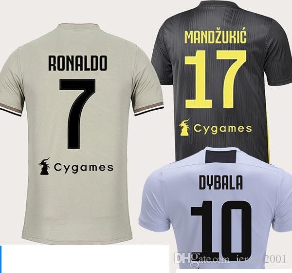 21b6ae826c3 2019 2018 19 Juventus Soccer Jersey  7 RONALDO 3rd Soccer Shirt 10 DYBALA  MARCHISIO MANDZUKIC PJANIC HIGUAIN Football Uniform 2019 Sales From  Jersey2001
