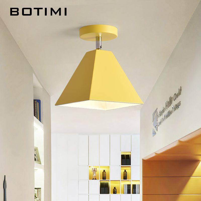 Großhandel BOTIMI Nordic LED Deckenleuchte Mit Metall Lampenschirm ...