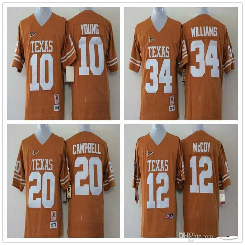 Youth 34 Ricky Williams 12 Colt McCoy 20 Earl Campbell 10 Vince Young Kids  Boys Children Texas Longhorns College Football Jersey Jerseys Wholesale  Cheap ... c6bfab065
