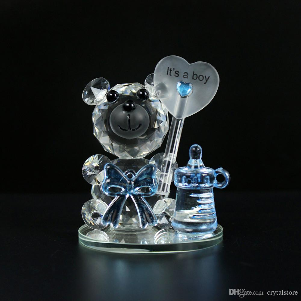 Crystal Bear NippleBaptism Baby Shower Souvenirs Party Christening Giveaway Gift Wedding Favors and Gifts For Guest