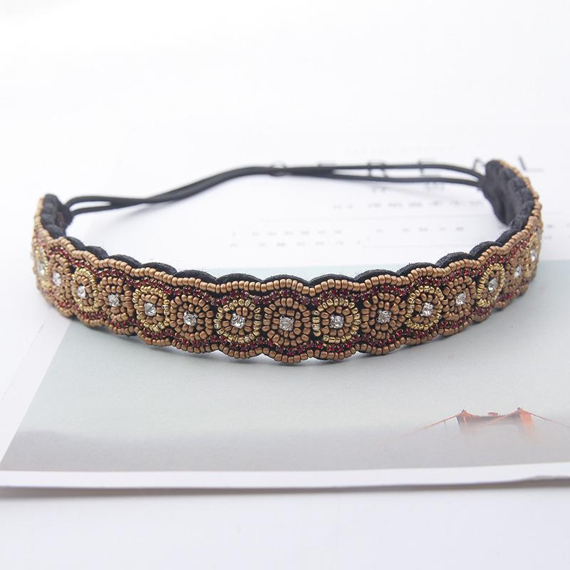 2019 Vintage Classic Hair Jewelry For Women Handmade Beaded Headband