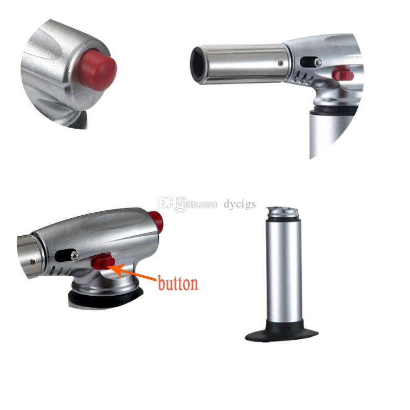 1300C jet flame torch lighter kitchen torch Giant Heavy Duty Butane Refillable Micro Culinary Torch Self-igniting