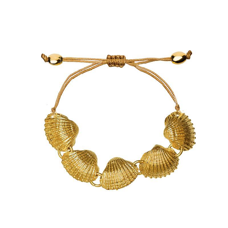 2018 Friendship Bracelets For Women Gold Fan Scallop Shell Bracelet