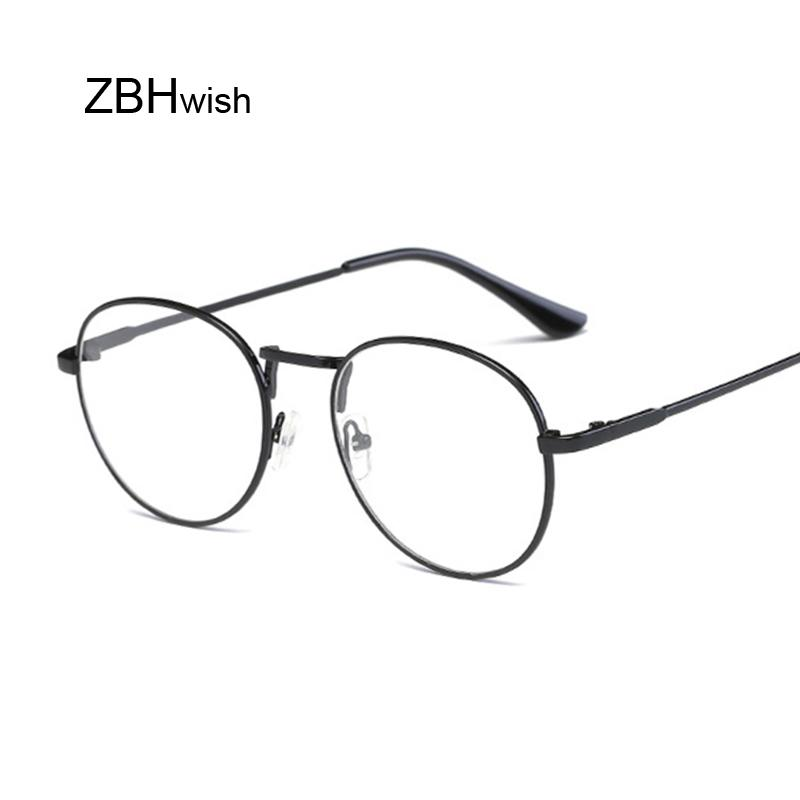d27a42dc81 New Designer Women Glasses Optical Frames Metal Round Glasses Frame Clear  Lens Eyeware Black Silver Gold Eye Sun Glass Eyeglasses Sunglasses Hut From  ...