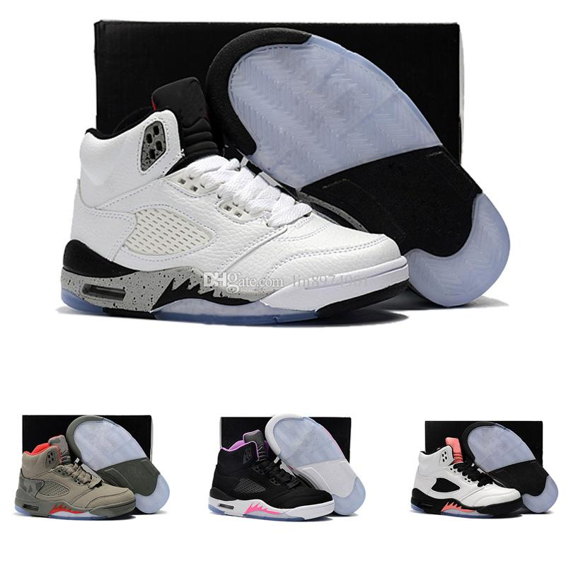size 40 55063 1534c ... good compre 2018 nike air jordan 5 11 12 retro zapatos para niños 5 5s v
