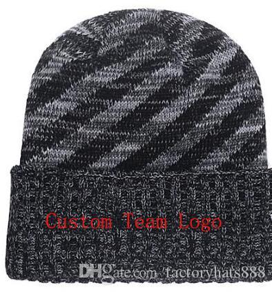 52d41c7cd21 2019 Autumn Winter Hat Men Women Sports Hats Custom Knitted Cap Sideline  Cold Weather Knit Hat Soft Warm Atlanta Beanie Skull Cap Beanie Hat Sun Hats  From ...