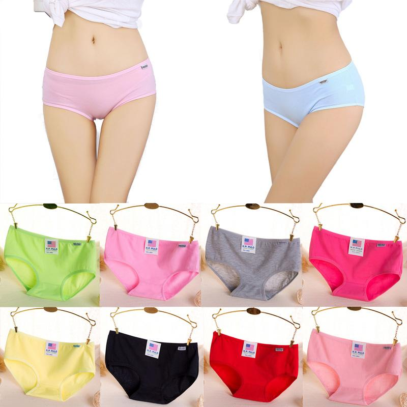 11ce0cf981d2a Fashion Ladies Cotton Briefs Women Panties Candy Color Soft Comfortable  Briefs for Female Plus Size Underpants for Girls Women Panties Plus Size  Underpants ...