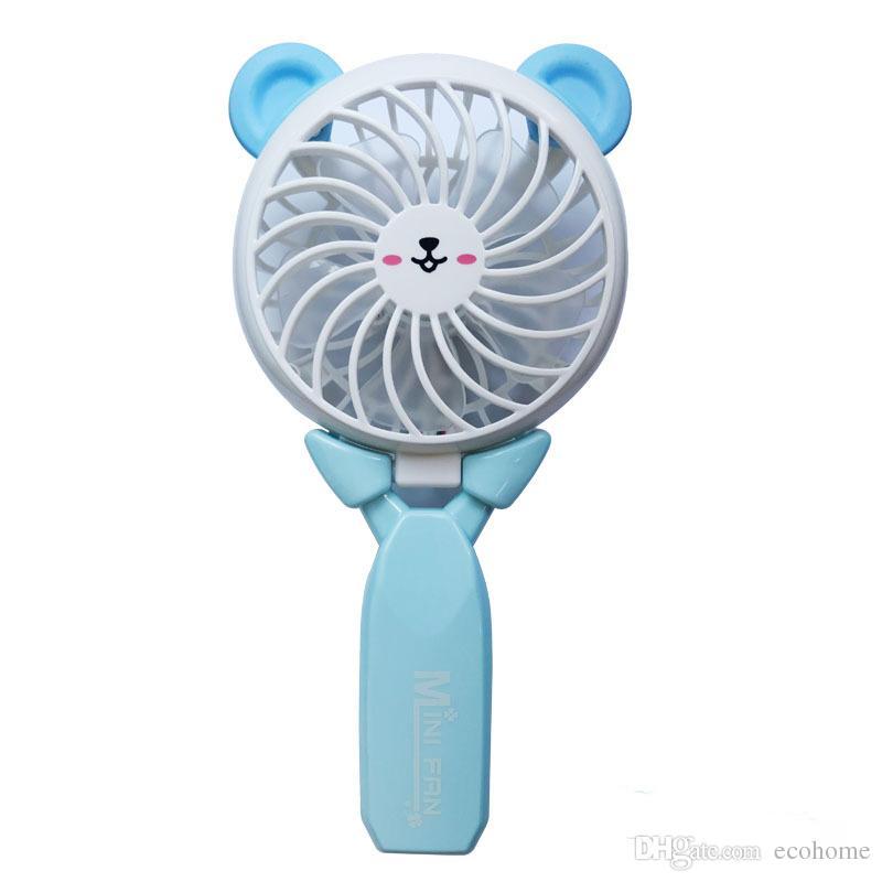 USB Mini Fan Tavşan Ayı El Taşınabilir Elektrikli Fan ile Ofis Ev Açık Seyahat için Şarj Edilebilir Pil