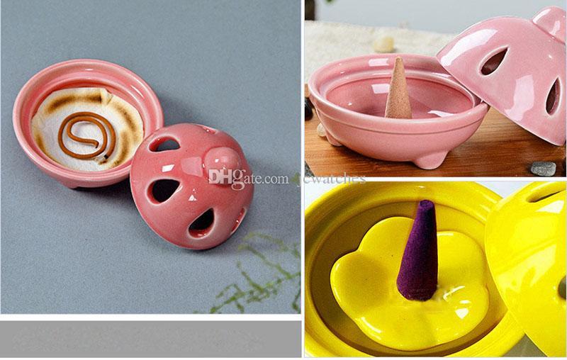 Velas de diseño de cono de quemador de incienso de cerámica y decoración de hogar de Burne de aceite esencial al por mayor
