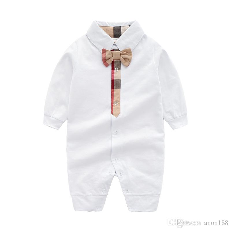Compre Ropa Para Bebés Recién Nacidos 2018 Nueva Moda Para Niños Bebés Ropa  Para Niñas 100% Algodón Body Para Bebés Mono Largo Para Bebés A  20.11 Del  Anon2 ... cbae49c138c8