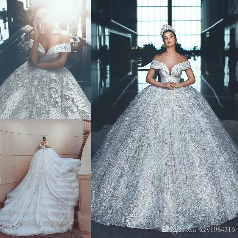 Arabia Dubai Princess Wedding Dresses Luxury Heavy Beads Lace Ball ...