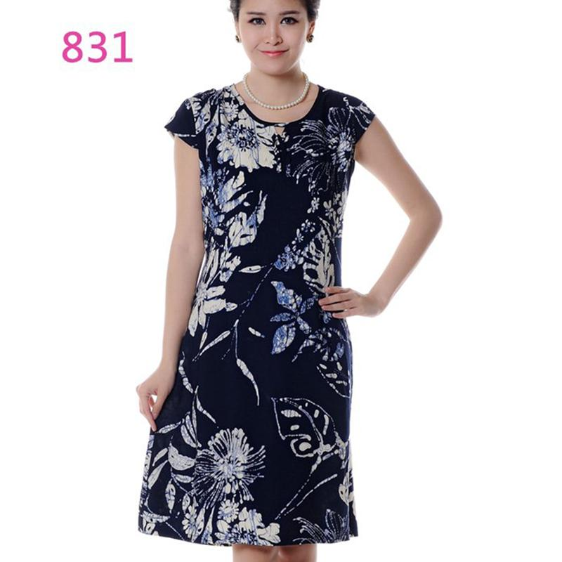 7acc565e49 Women Summer Short Sleeve Vintage Dress 2018 Middle Aged Cotton Floral  Print Dress Womens Clothing Vestido Plus Size 5XL ZS274 Cute Dresses Red  Dresses From ...