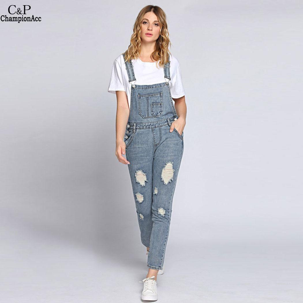 24e355f81f6e Wholesale Ripped Bleach Wash Jeans Women Jumpsuits Slim Moveable Strap  Rompers Casual Pocket Denim Overalls Fashion Jean Jumpsuit Jumpsuit Online  with ...