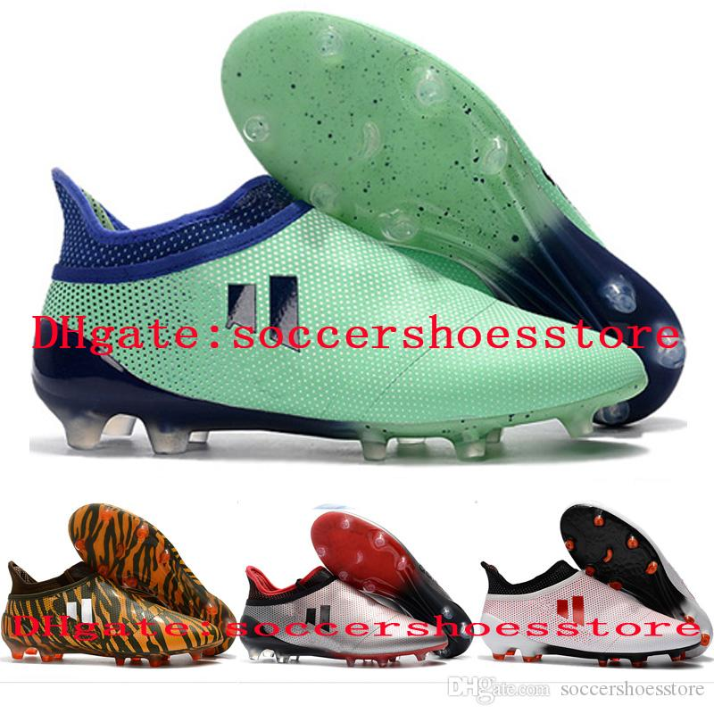 2018 Mens Soccer Cleats Ace 17 Purecontrol FG Soccer Shoes X 17 Purechaos FG  Football Boots High Ankle Botas De Futbol New Boys Boots For Sale Childrens  ... 98e3248c7beb8