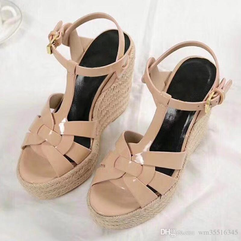 Summer Woman Sandals Shoes Women Pumps Platform Wedges Heel Fashion Casual Loop Bling Star Thick Sole Women Shoes